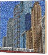 Chicago Wells Street Bridge Wood Print