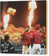 Chicago White Sox V Los Angeles Angels Wood Print