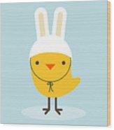 Chicken Rabbit Wood Print