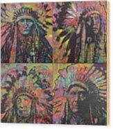 Chiefs Quadrant Wood Print