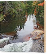 Chikanishing River In Autumn Wood Print