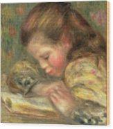 Child Reading, 1890  Wood Print