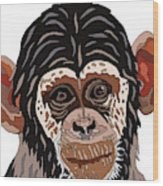 Chimp Wood Print