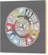 Chinese Body Clock Wood Print