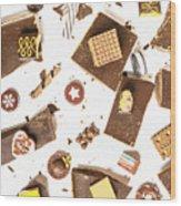 Chocolate Bar Break Wood Print