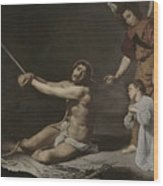 Christ After The Flagellation Contemplated By The Christian Soul Wood Print