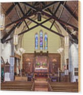 Christ Episcopal Interior Wood Print