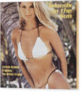 Christie Brinkley Swimsuit 1980 Sports Illustrated Cover Wood Print