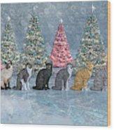 Christmas Cats Wood Print