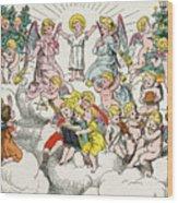 Christmas Fairy Tale Wood Print