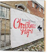 Christmas Fayre Sign Wood Print