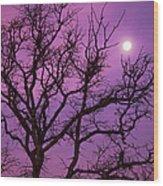 Christmas Morning Moon Wood Print