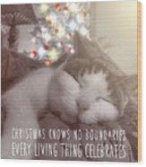 Christmas Nap Quote Wood Print