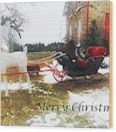 Christmas Sleigh Wood Print