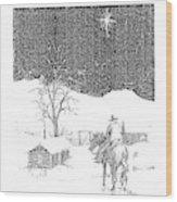 Christmas Star Wood Print