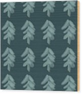 Christmas Tree Pattern Wood Print
