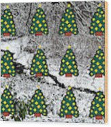 Christmas Trees Wood Print