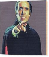 Christopher Lee As Dracula Wood Print