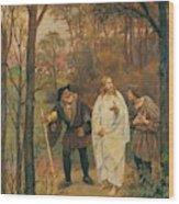 Christus Und Die J Nger Von Emmaus 1914 Wood Print