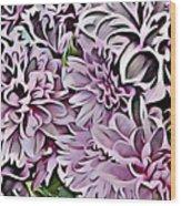 Chrysanthemum Abstract. Wood Print