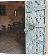 Church Door Tremouille Auvergne Francd Wood Print