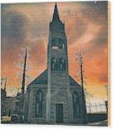 Church Of Days Past Wood Print