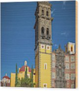Church Of San Francisco In Puebla Wood Print