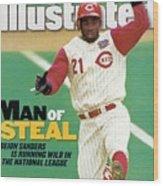 Cincinnati Reds Deion Sanders... Sports Illustrated Cover Wood Print