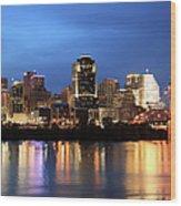 Cincinnati Skyline, Ohio Wood Print