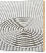 Circles And Lines In Sand Wood Print