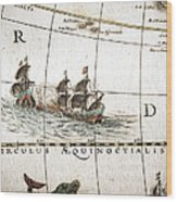 Circulus Aequinoctalis, Historical Map Wood Print