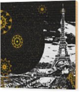 City Of Lights - Kaleidoscope Moon For Children Gone Too Soon Number 6  Wood Print