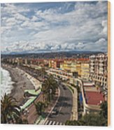 City Skyline Of Nice In France Wood Print