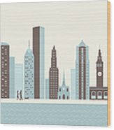 City Walk Wood Print