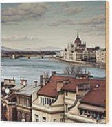 Cityscape Of Budapest Wood Print