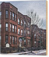 Cityview Cooperative, Minneapolis Wood Print