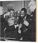 Civil Rights Bill Wood Print