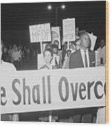 Civil Rights Demonstrators Wood Print