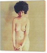 Clara Bow, Vintage Movie Star Nude Wood Print