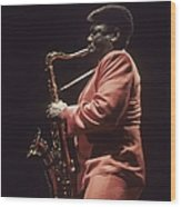 Clarence Clemons Performs Live With The Wood Print