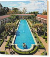 Classic Awesome J Paul Getty Architectural View Villa  Wood Print