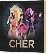Classic Cher Trio Wood Print