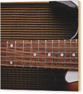 Classic Electric Guitar And Amp Still Wood Print