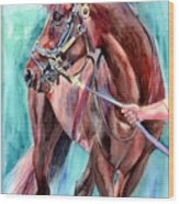 Classical Horse Portrait Wood Print