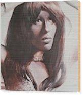 Claudia Lennear.brown Sugar.lady Grinning Soul Wood Print