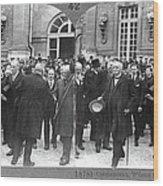 Clemenceau, Wilson, And Lloyd George At Wood Print