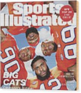 Clemson University Defensive Line, 2018 College Football Sports Illustrated Cover Wood Print