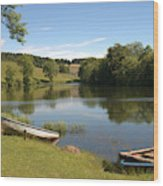 Clerklands Loch, Near Selkirk, Scottish Borders Wood Print