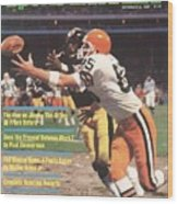 Cleveland Browns Dave Logan And Pittsburgh Steelers Mel Sports Illustrated Cover Wood Print