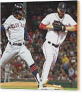 Cleveland Indians V Boston Red Sox Wood Print